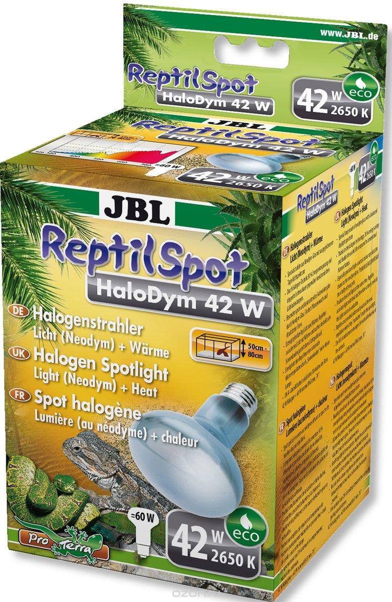 """Галогеновая неодимовая лампа JBL """"ReptilSpot HaloDym"""" для освещения и обогрева террариума, 42 Вт"""