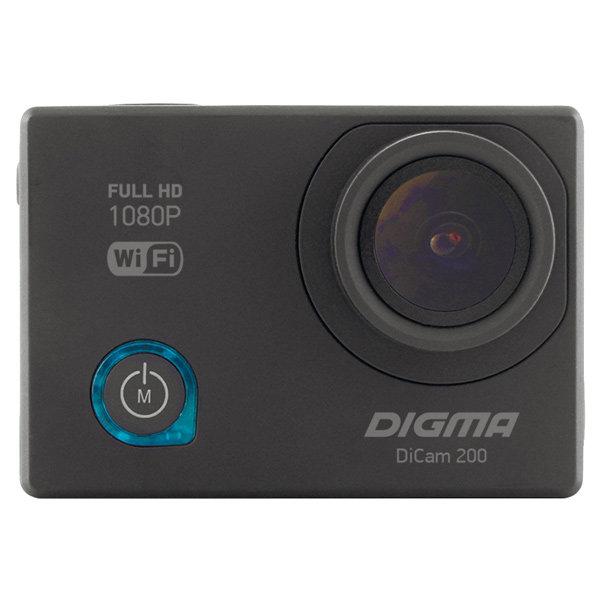 Видеокамера экшн Digma DiCam 200 черный