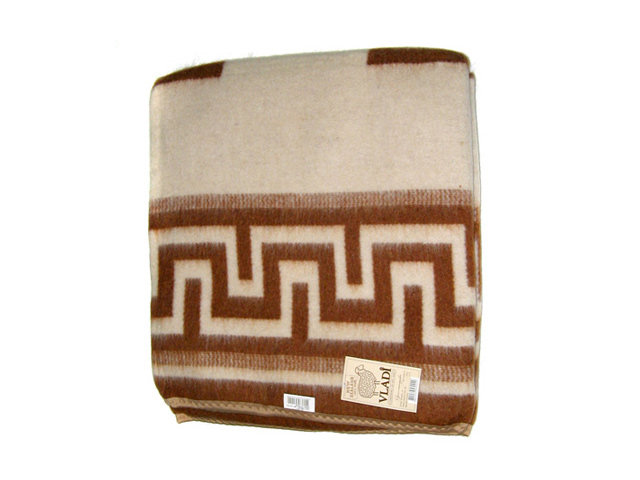 одеяло-плед VLADI Греция 140х200см шерсть 88% хлопок 12%, арт.О-п 140 Греция