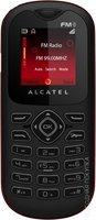 Кнопочный мобильный телефон Alcatel One Touch OT 208 (темно-серый)