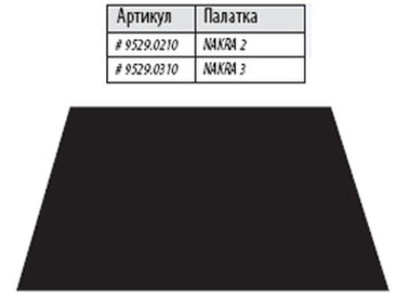 Дно под тамбур палатки Alexika «Nakra 3», black
