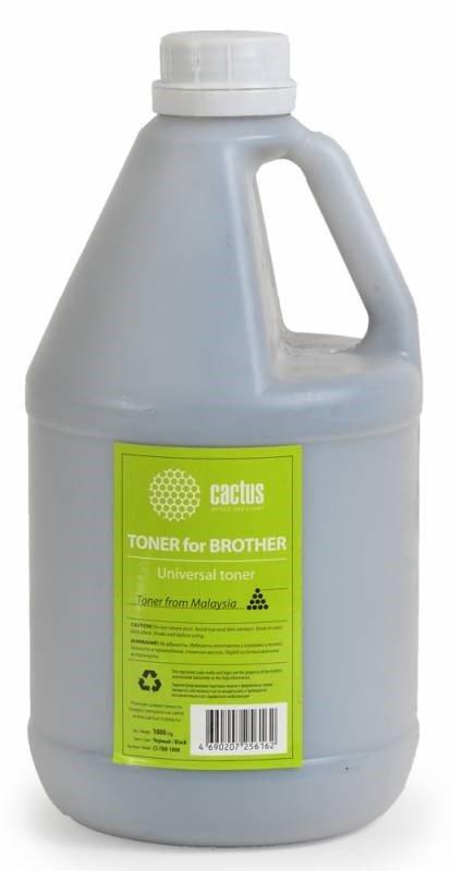 Тонер для принтера Cactus CS-TBR-1000 черный (флакон 1000гр) Universal toner Brother