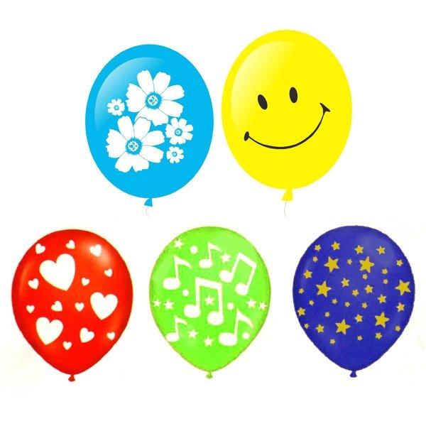 Воздушные шары ACTION! API0056/M с одноцветным рисунком 20шт