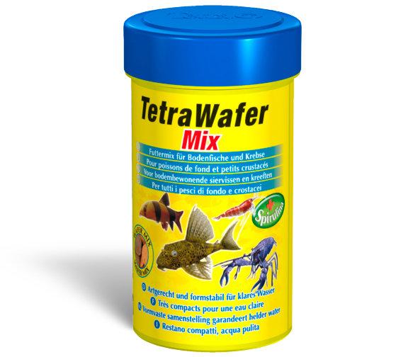 Корм Tetra TetraWafer Mix для донных рыб в виде плотных чипсов (15 г (пакетик))