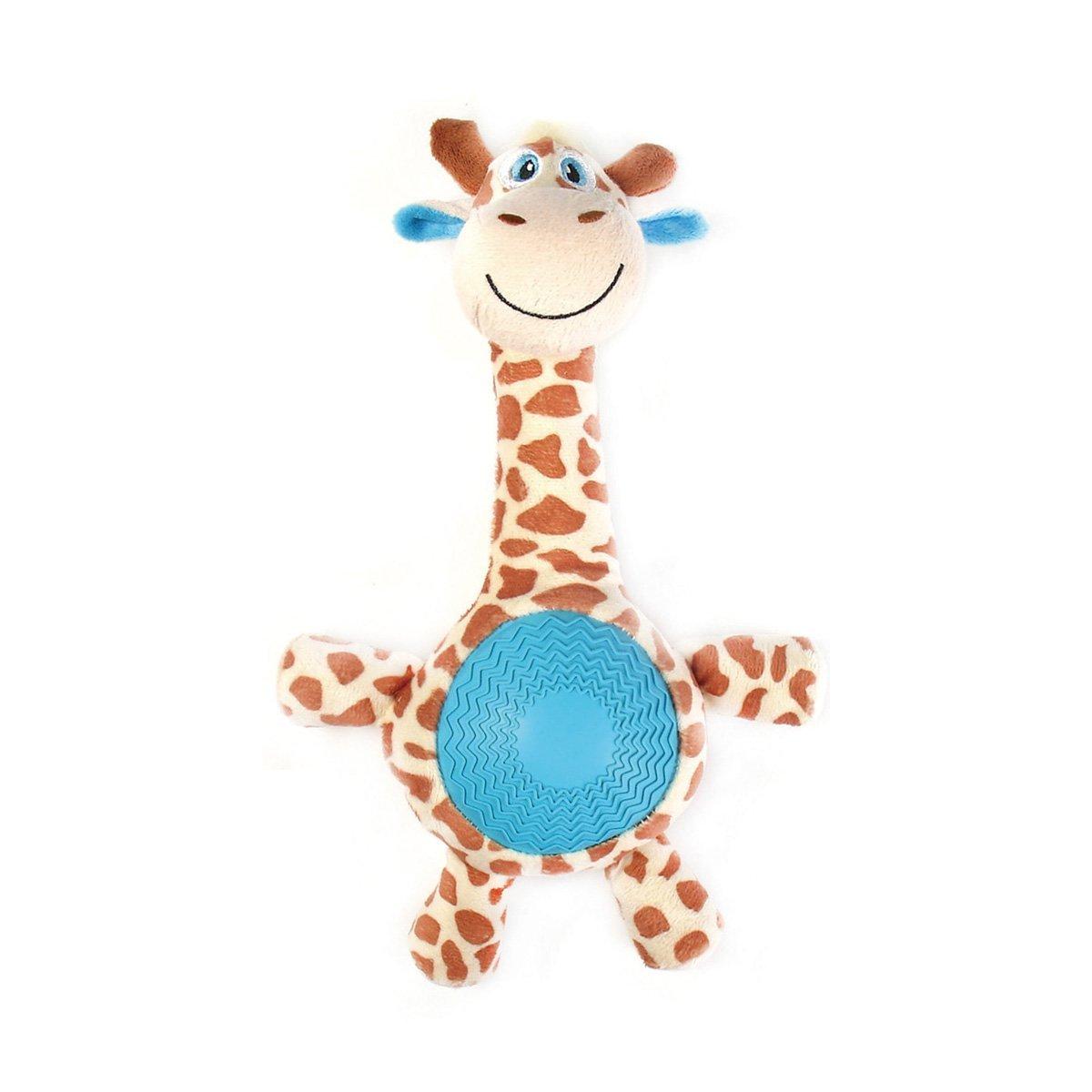 """Игрушка плюшевая """"Жираф"""" с резиновым животиком и пищалкой (21см), V.I.Pet 13405"""
