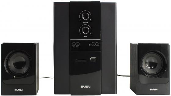 Колонки Sven MS-1820 2х11 + 18 Вт USB SD ПДУ черный