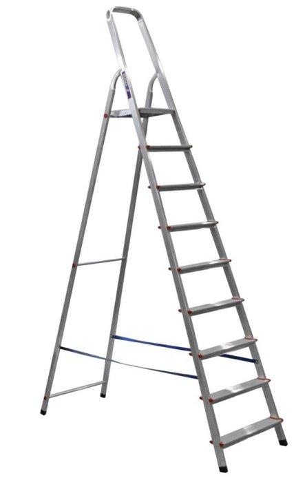 Стремянка Алюмет Ам709, 9 ступеней, алюминиевая