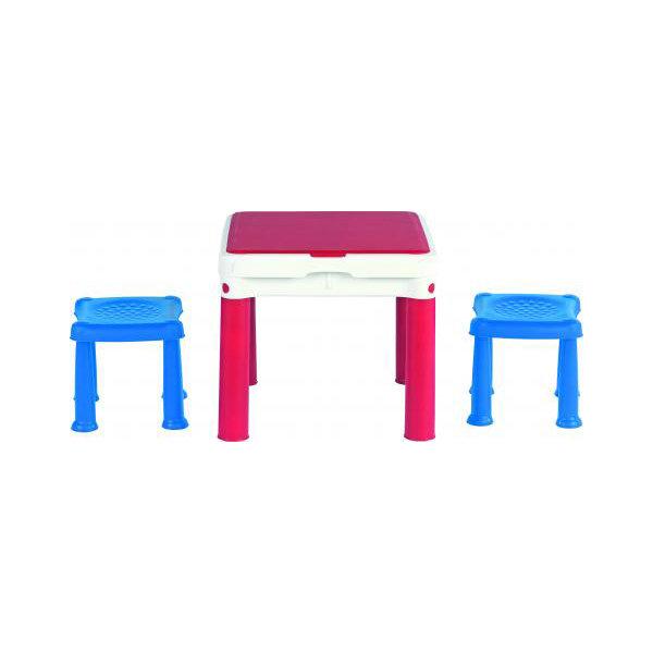 Столик для игр с конструктором Keter 3 в 1 +2 табуретки