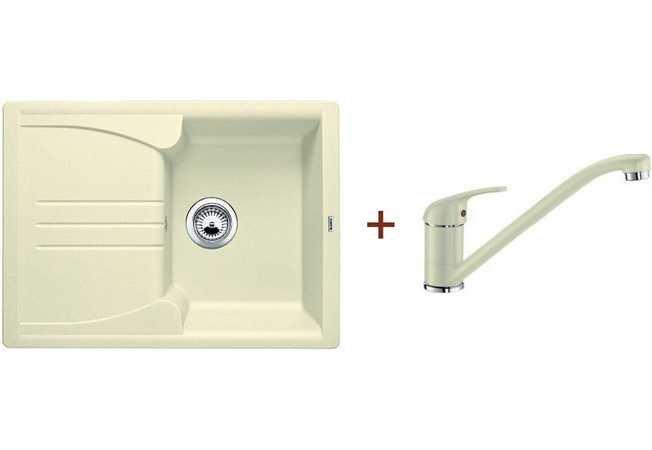 Кухонная мойка Blanco комплект из мойки ENOS 40 S жасмин и смесителя DARAS гранит (514230D2)