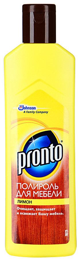 Полироль для мебели Pronto с запахом лимона 300 г