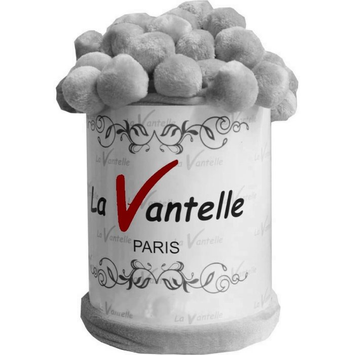 Плед Бубон la Vantelle 220x230 (серый)