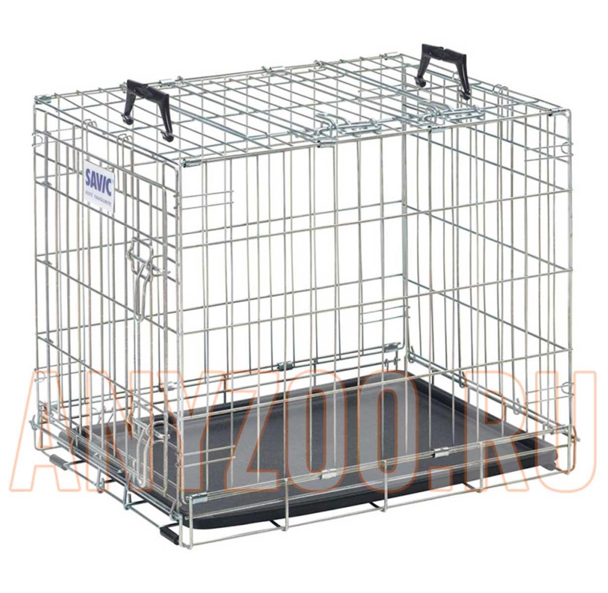 Savic Клетка для транспортировки животных, хром 91*57*62см ( Клетки, вольеры для собак )