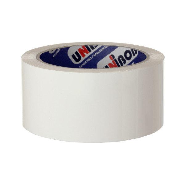 скотч упаковочный 48мм*66м unibob600 белый 28717