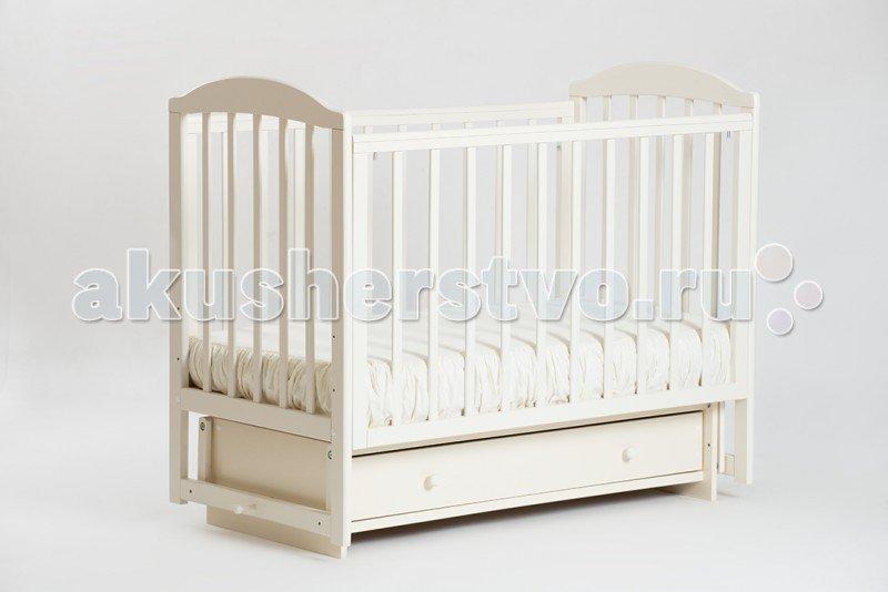 Детская кроватка Кубаньлесстрой БИ 41.2 Кубаночка-5 маятник поперечный Слоновая Кость