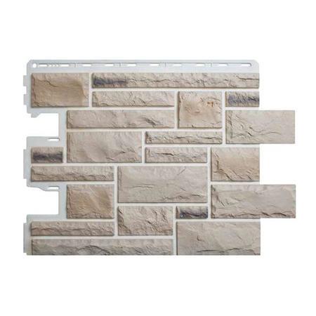 Цокольный сайдинг (фасадные панели) Камень Пражский - цвет 01 (59см)