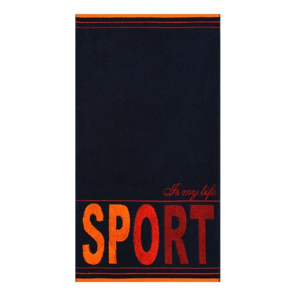 полотенце махровое 50х90 см спорт, пестротканое