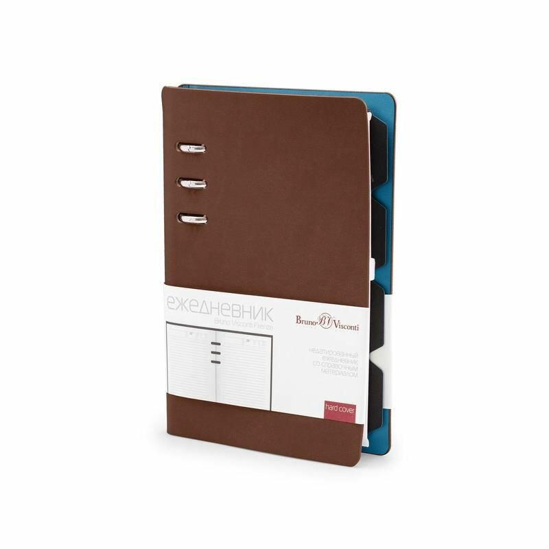 Ежедневник недатированный Bruno Visconti Firenze искусственная кожа А5- 120 листов коричневый (132×190 мм)