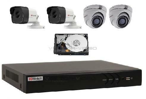 Комплект видеонаблюдения 5Mp Экстра-4