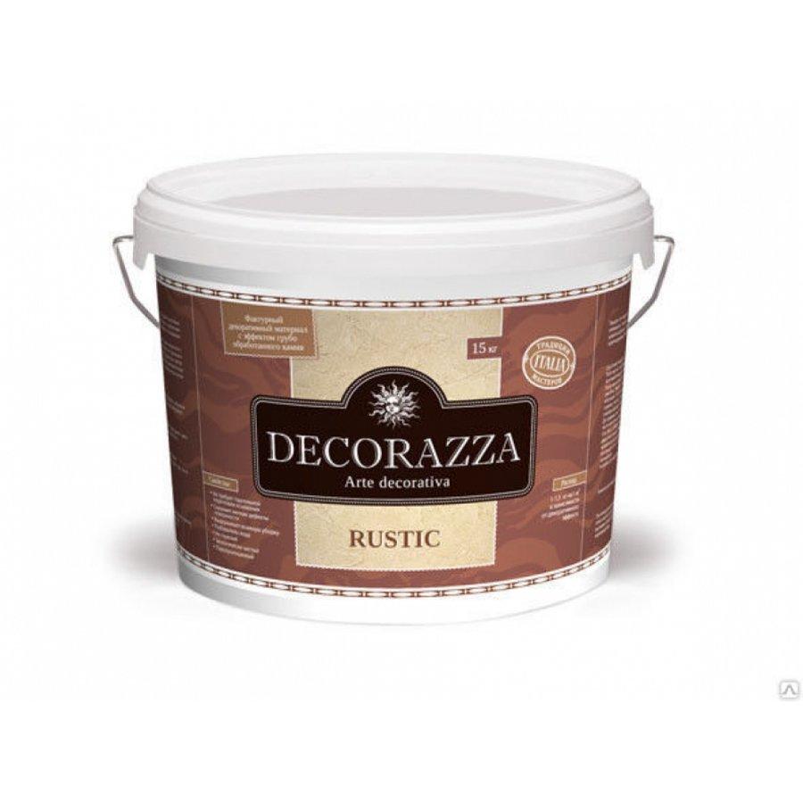 Фактурный декоративный материал Decorazza RUSTIC (РУСТИК) 7кг с эффектом необработанного камня