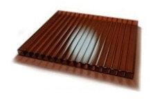 Поликарбонат сотовый Woggel коричневый 4 мм 2,1х12 м