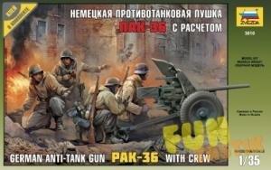 Звезда Немецкая противотанковая пушка ПАК-36 с расчетом масштаб 1:35