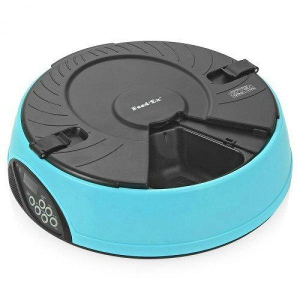 Электронная кормушка-миска для кошек и средних пород собак «Feed-Ex PF6 Blue» с таймером