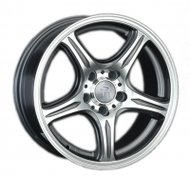 Диски LS Wheels 319 6,5x15 5x112 D57.1 ET45 цвет GMF (темно-серый,полировка) - фото 1