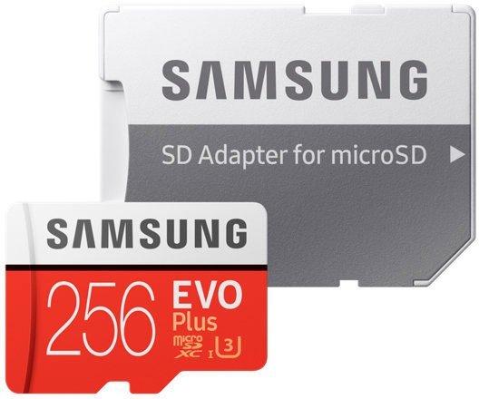 Карта памяти 256Gb MicroSD Samsung EVO Plus Class 10 + адаптер (MB-MC256GA)