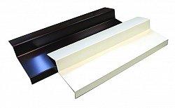 Отлив балконный Bauset алюминий 1мм, 110х6000мм, белый