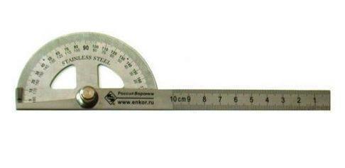 Угломер переставной с линейкой 150 мм 0-180 градусов Энкор 10873