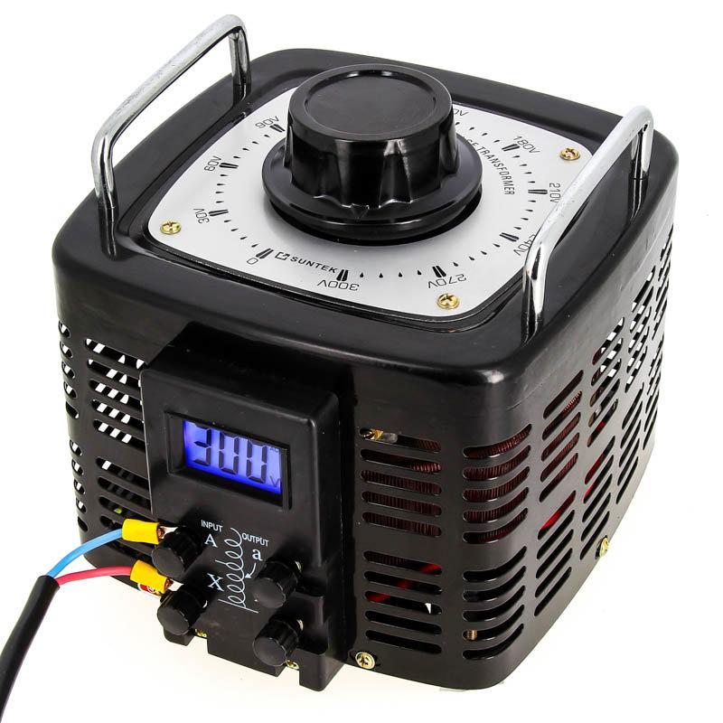 Лабораторный автотрансформатор ЛАТР SUNTEK 7000 ВА диапазон 0-300 Вольт (28А)