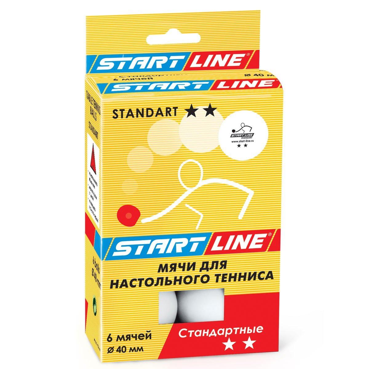"""Мячи теннисные """"START LINE STANDART 2"""" 6ШТ"""