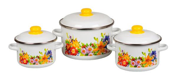 Набор эмалированной посуды №19, «Полянка»