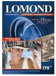 Фотобумага Lomond 1101101 A4/170г/м2/20л./белый высокоглянцевое для струйной печати