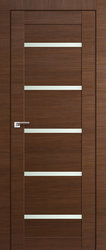Межкомнатная дверь Profil Doors экошпон серия X 7X Кроскут малага черри полотно со стеклом, 900х2000мм