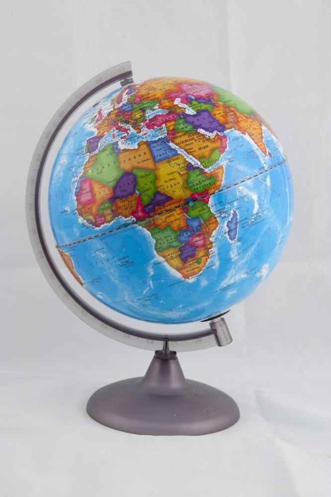 Глобус политический на подставке из пластика диаметром 250 мм