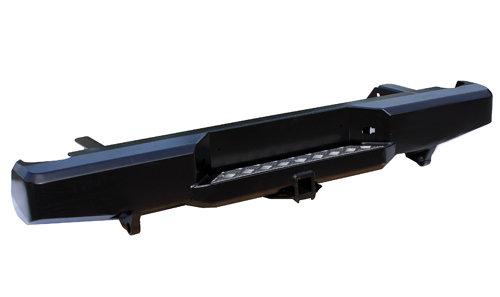 Бампер задний силовой с квадратом РИФ Navara D40