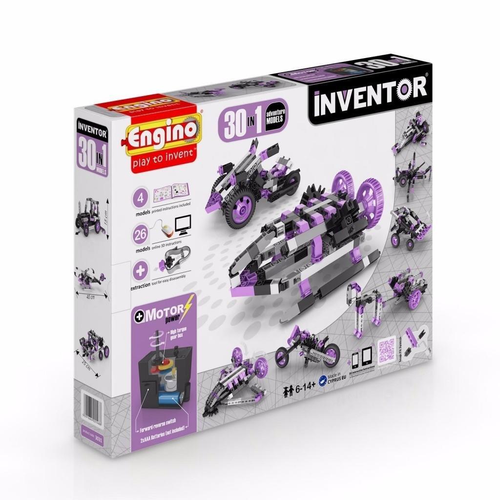 Конструктор Engino INVENTOR Набор из 30 моделей с мотором Приключения - 3031