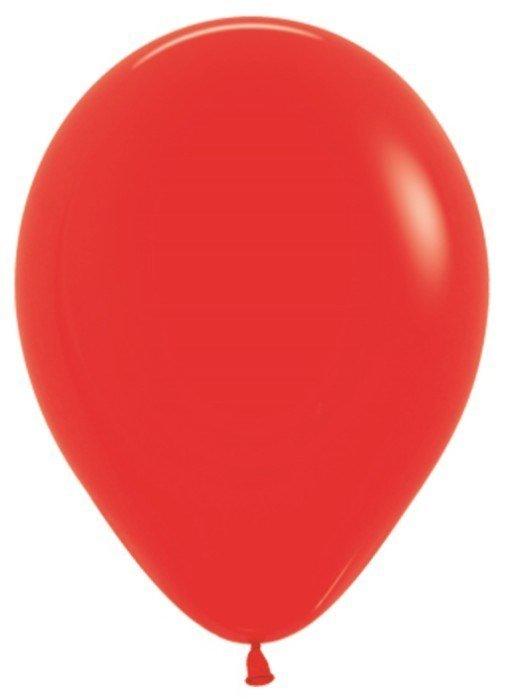 """Sempertex Воздушный шар 10"""" пастель 100 шт. красный"""