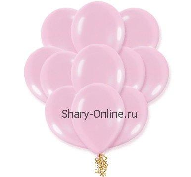 Воздушные шары с гелием «Нежно-розовый», пастель
