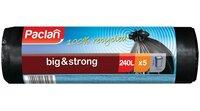 Пакеты для мусора PACLAN BIG&STRONG 240л, 5 шт (ПВД) черные