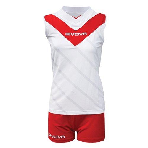 Волейбольная форма Givova Kit Muro Kitv05 white/red р-р XS