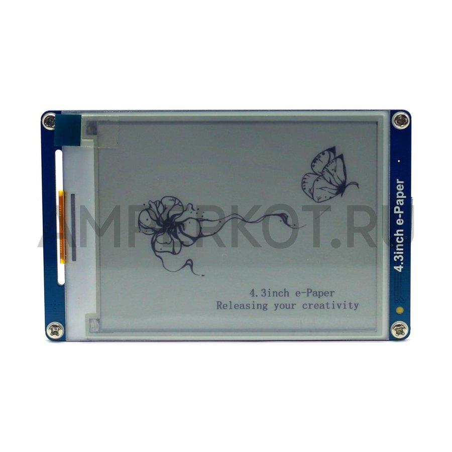Модуль-дисплей с электронными чернилами 4.3' Waveshare e-Paper