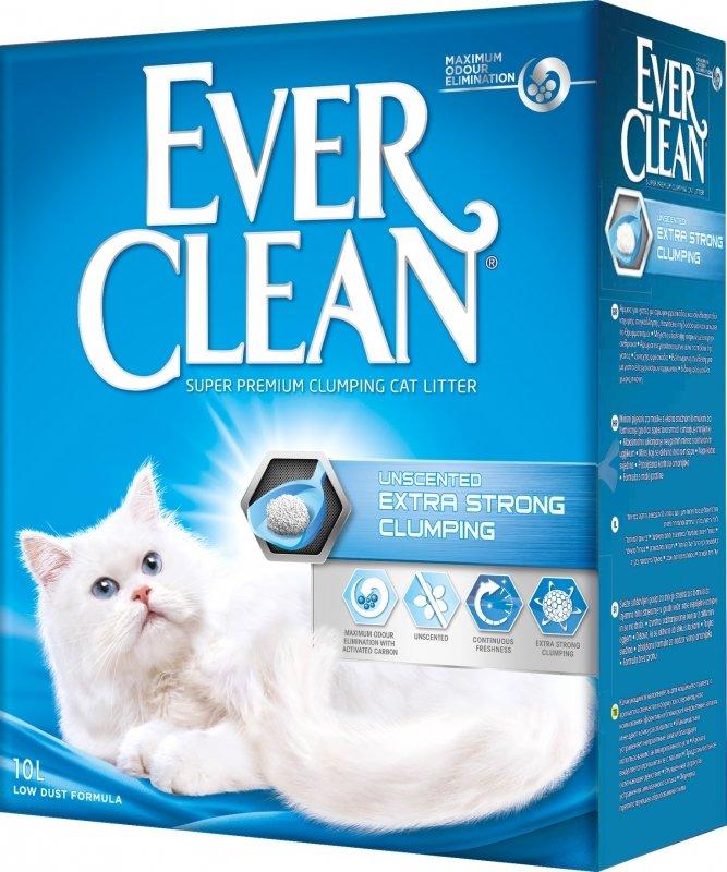 Наполнитель для кошачьих туалетов EVER CLEAN Extra Strong Clumping Unscented комкующийся без ароматизатора 10 л