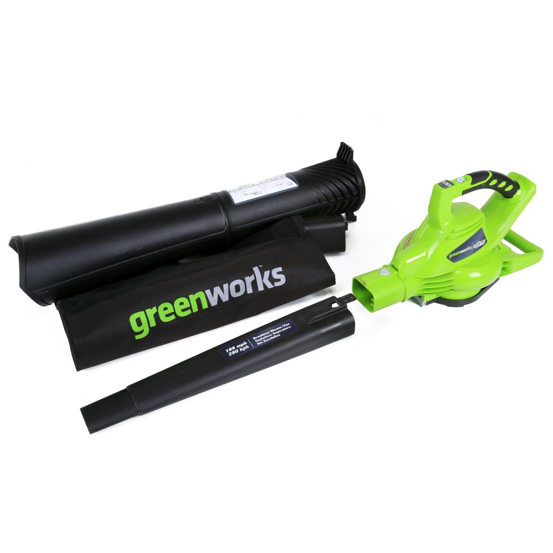 Воздуходувка аккумуляторная GreenWorks GD40BV