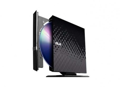 Оптический привод ASUS SDRW-08D2S-U/DBLK/G/RUS/AS [DVD RW DL, внешний, USB, скорость чтения CD: 24x, DVD: 8x]