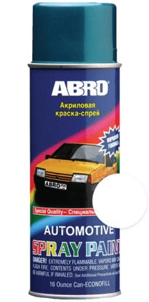 Краска-спрей лада 233 (белая) ABRO (473мл)