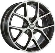 Колесные литые диски BBS SR Grey 8x18 5x114.3 ET40 D82 Vulcano grey diamond cut (0360540#) - фото 1
