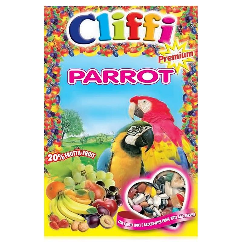 Корм для попугаев Cliffi, с ягодами фрутти и орехами