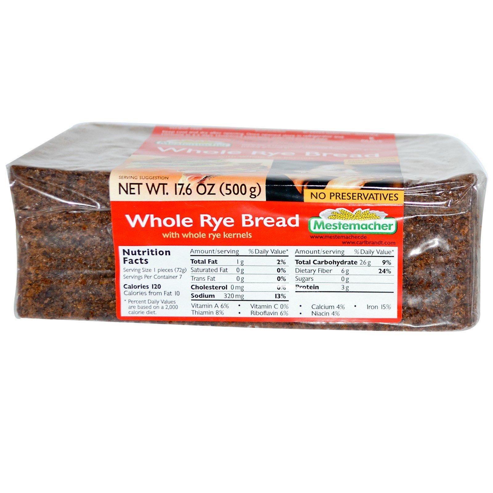 Mestemacher Цельнозерновой ржаной хлеб 176 унций (500 г)
